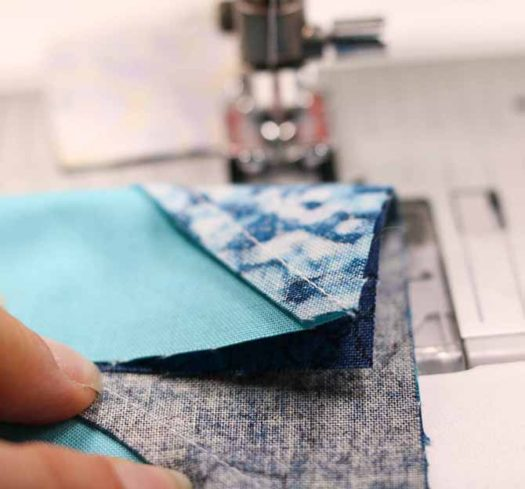 A half square triangle on the reverse side of that seam and that extra thickness at the beginning of the seam can cause some issues