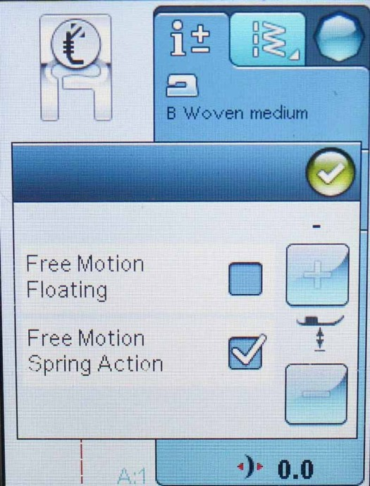 Choose the Free Motion Technique icon (bottom left)