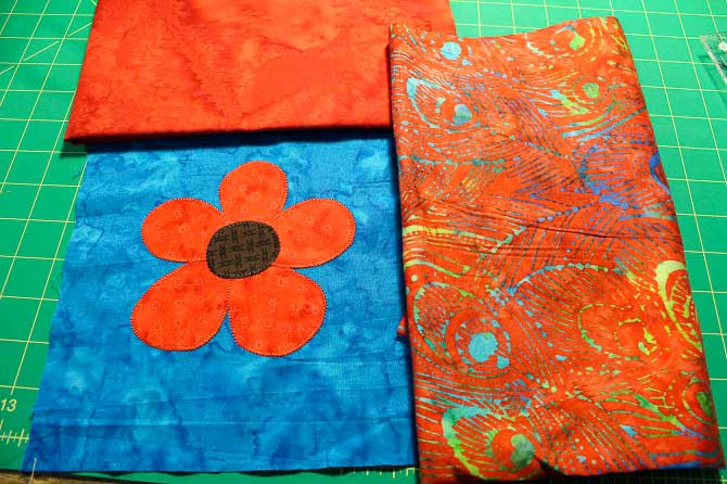 Fabric ready to make a fabric journal cover.