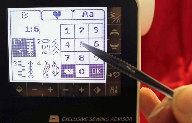 The stylus is easy to hold and the fine tip makes it easy to hit the correct spot on the screen. Let's face it - our fingers get a little larger as we get older and without the stylus, it was difficult to get the accuracy I needed. Although there were times when I made changes on the TouchScreen using my finger.