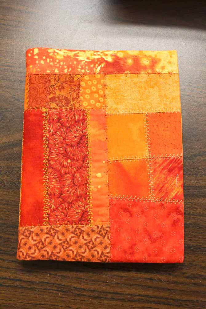 A great way to showcase and play with the variety of stitches on the H|Class 100Q crazy quilting journal cover.