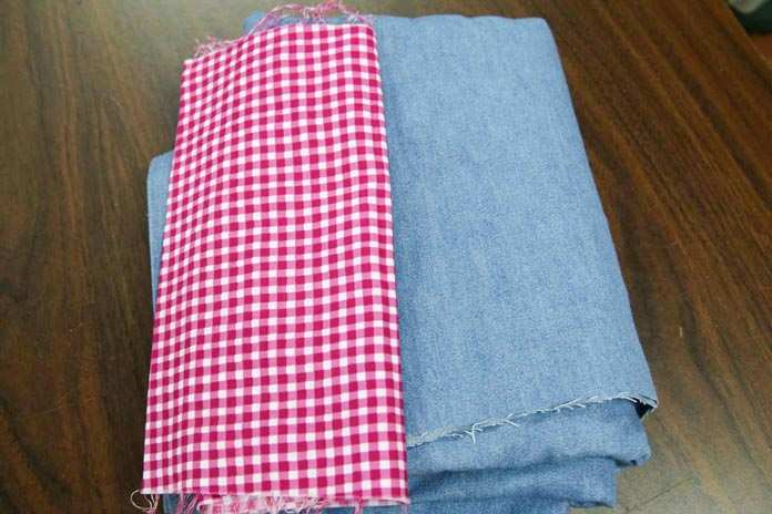 "Fabrics for a shirt and a pair of pants for an 18"" doll"