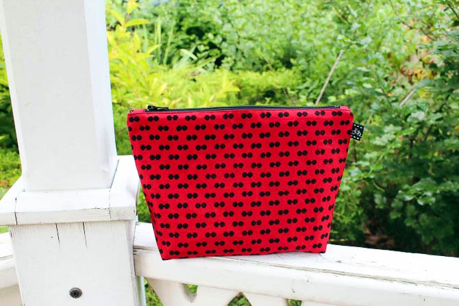Zippered Fabric Pouch