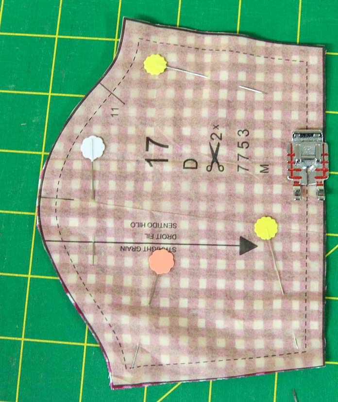"The Quilter's ¼"" foot is perfect for sewing the seam allowance on the doll clothes"