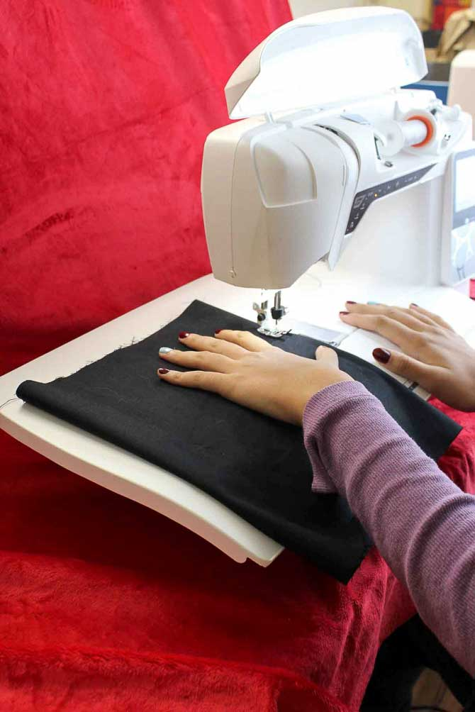 You will love using this extension table. The curved front means less fatigue on your wrists as there is no sharp edge for them to rest on. Also less drag on your quilt because of the curved edge.