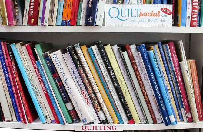 Another shelf of quilting books to browse