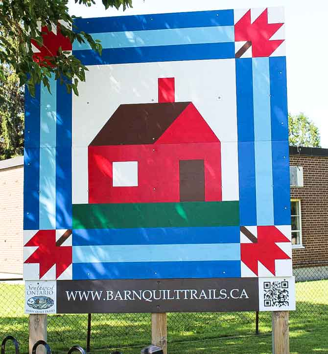 Barn Trail quilt block