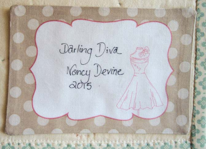 Every work of art deserves a signature. The Darling Diva gets a label