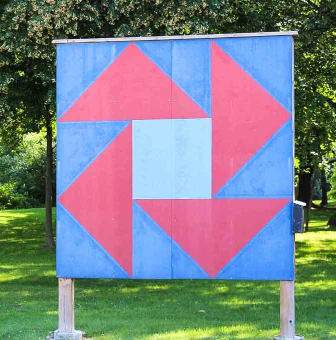 Barn quilt block