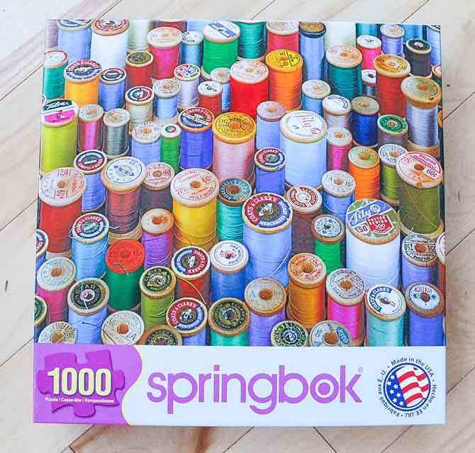 Sewing themed jigsaw puzzle