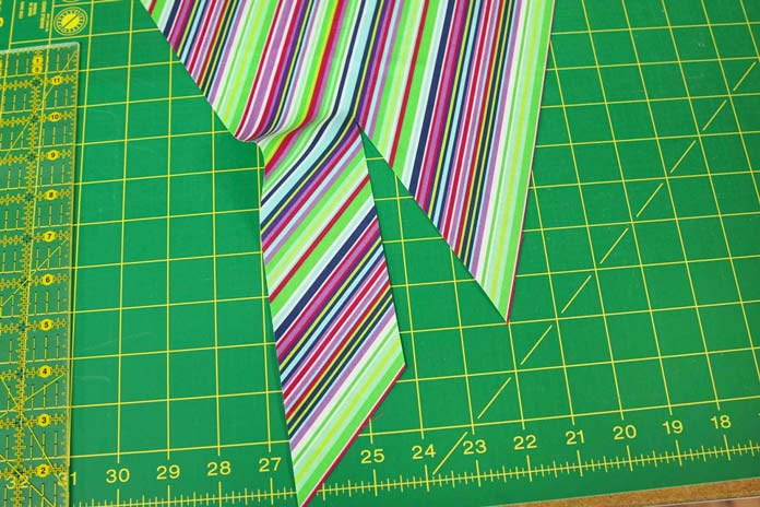 "A 6"" cut that's parallel to the bias edge by the width of the binding strip"