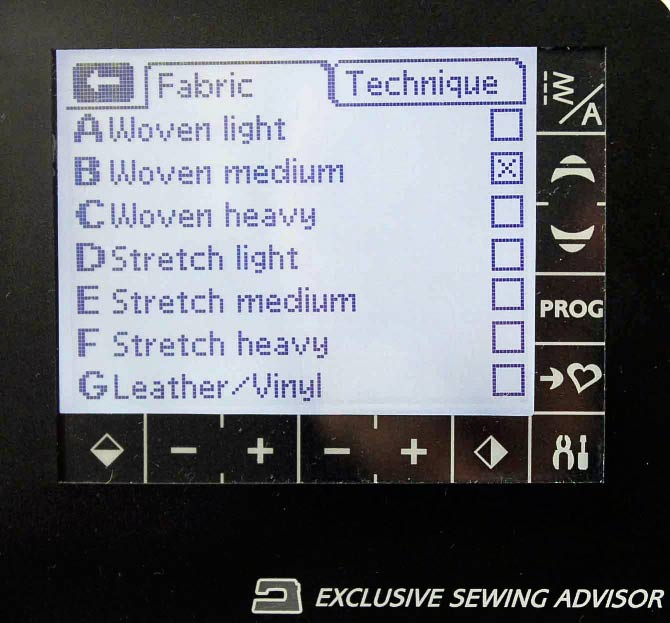 Highlight the type of fabric and the weight that you are about to sew.