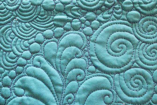 Example of Amy Garro free motion quilting