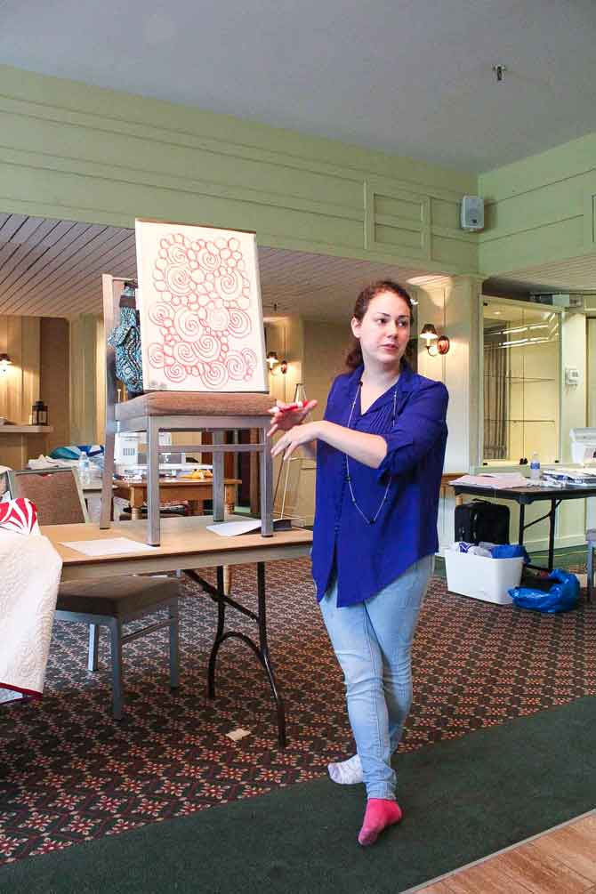 Amy Garro teaching Graffitti Quilting