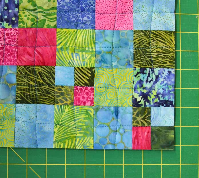 Open density quilting with easy wavy lines of stitching