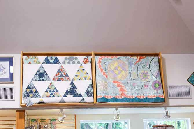 Gorgeous quilt display racks