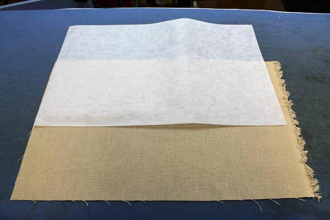 Cut the backing and the heavy weight fusible interfacing for the journal cover.