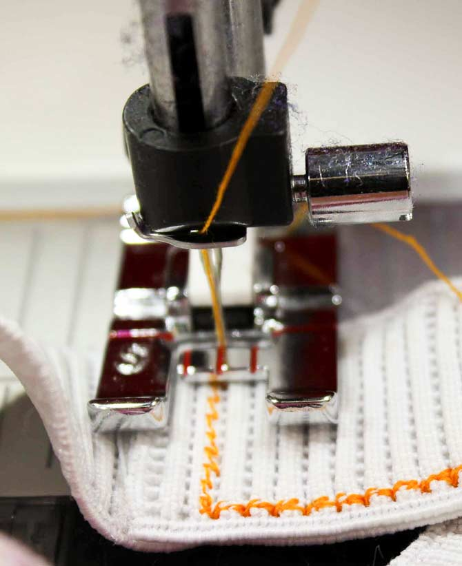 Using the 8-way stitch - no turning required