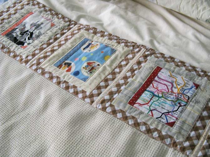 Quilting: Quilted Blanket Goes to College