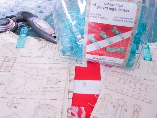 Use Clever Clips to keep all the sashing and dividing strips organized before you begin sewing the quilt top together.