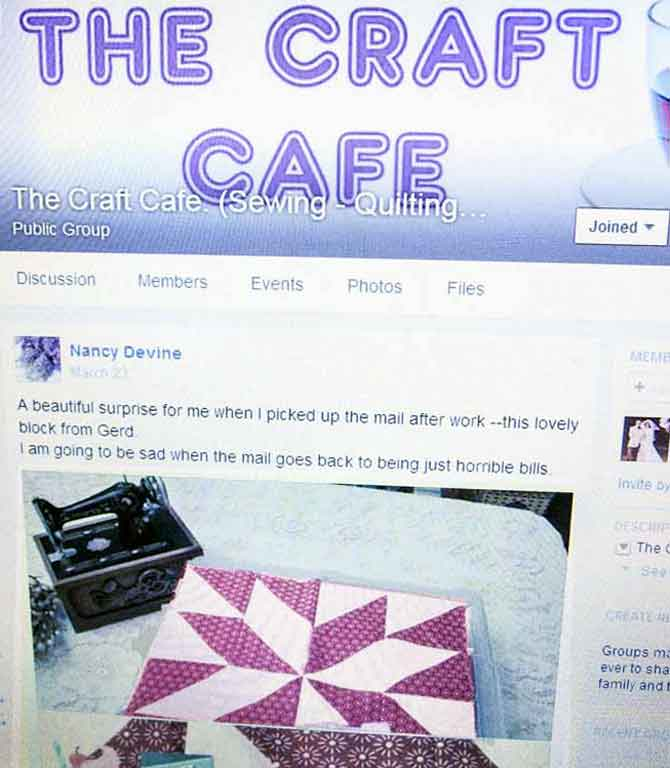 The Craft Cafe -- an international crafting support group.