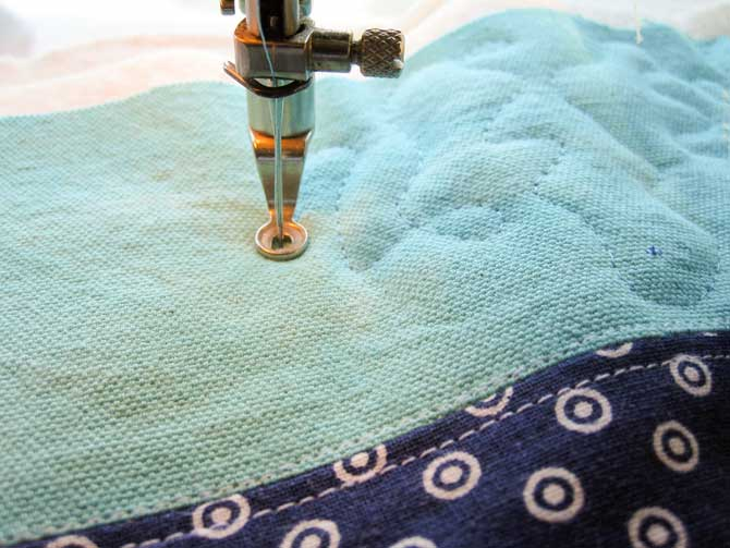 Free motion quilting is an excellent summer adventure!
