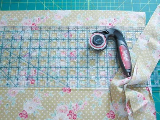 Delicious fabric will bind the Cafe Comforts Cozy Quilt together.