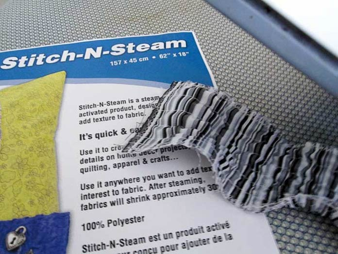 Stitch it and then steam it...instant texture fun!