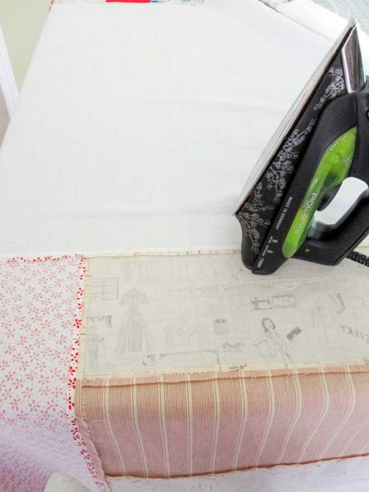 The pieced back pressed and ready for the creation of the quilt sandwich.