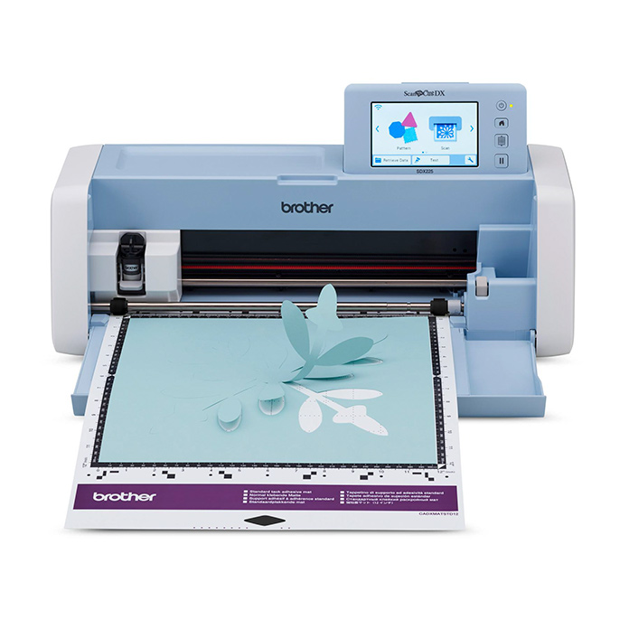 The scanning mat with Paper Pattern on Brother ScanNCut SDX225