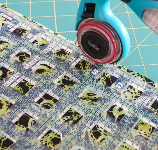 TrueCut My Perfect Rotary Cutter along with the TrueCut Ruler are a perfect match.