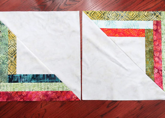2 of the 7 blocks that will be used in our modern quilt.