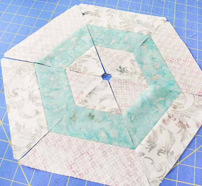 One way to arrange the die cut triangles