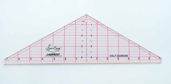 "Sew Easy Half Diamond Ruler - 41½"" x 14¼"""