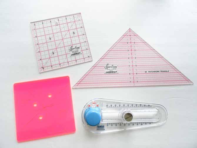 Sew Easy Rulers and the TrueCut Circle Cutter