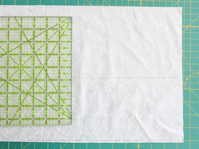 """1st step is to draw horizontal lines that are 4⅞"""" apart."""
