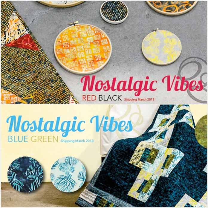 Nostalgic Vibes collection has 2 lines: Red-Black and Blue-Green
