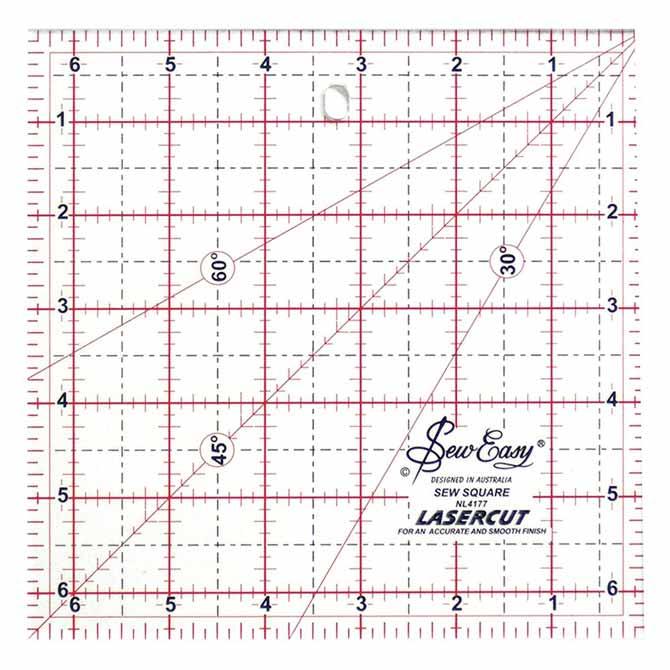 "SEW EASY Square Ruler - 6½"" x 6½"""