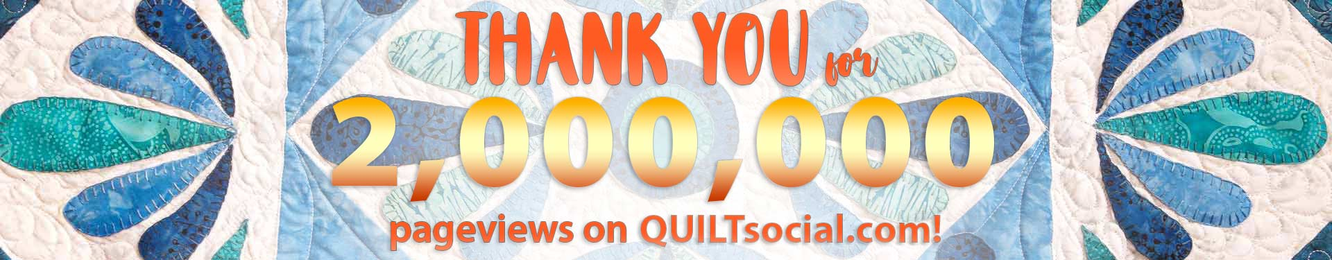 QUILTsocial is a daily quilting blog, monthly newsletter, FREE quarterly magazine, and FREE App focused on the love and art of making quilts. Join us!