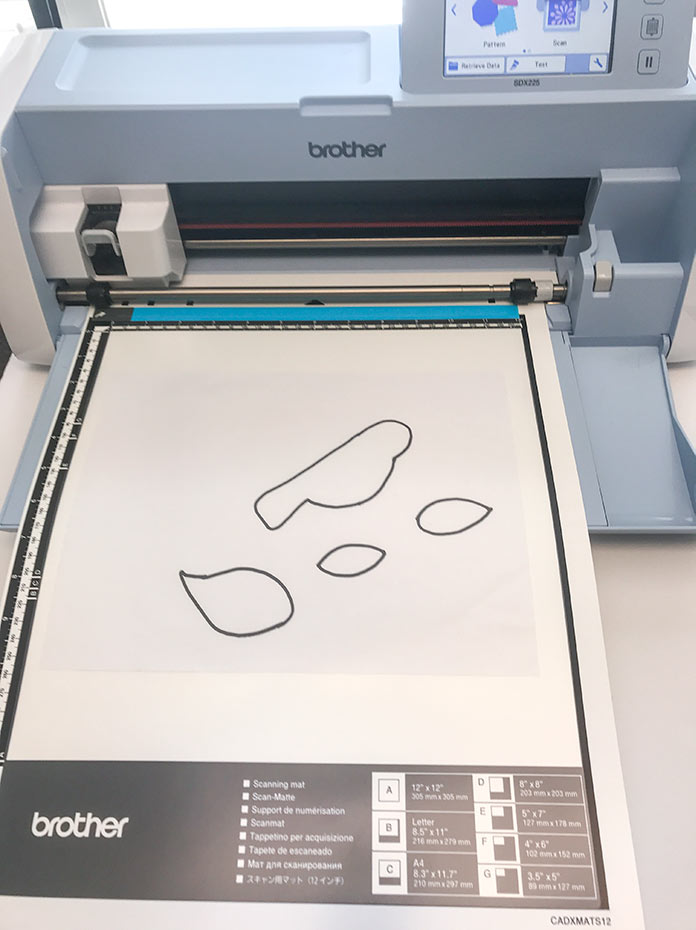Scanning mat with paper pattern