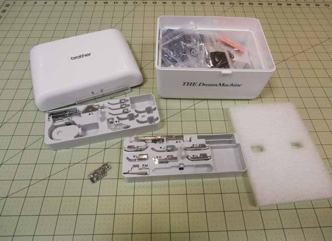 Everything at your fingertips in the accessory box that accompanies THE Dream Machine 2