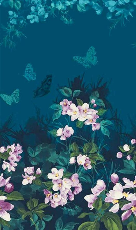 Mystic Garden has a running yardage fabric that looks like a panel and can be cut into whatever length desired.
