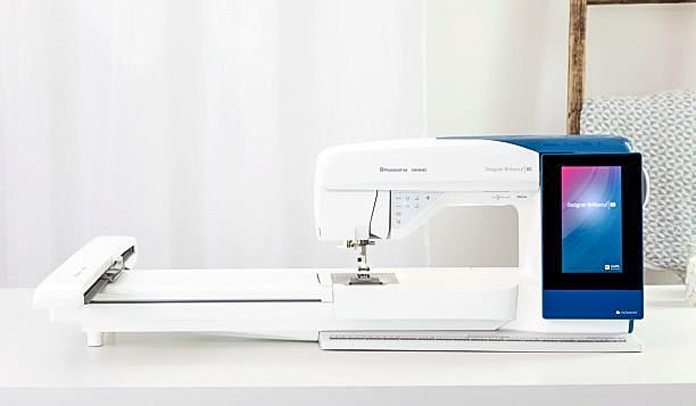 HUSQVARNA VIKING Designer Brilliance 80 with embroidery unit attached