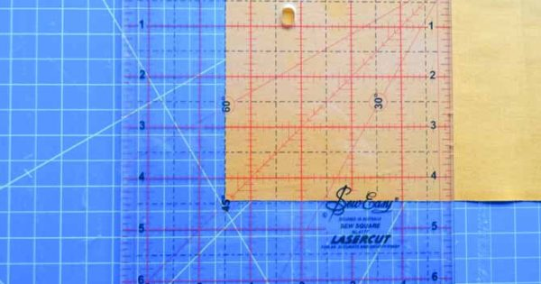 Sew Easy Square Ruler Makes Easy Work Of Half Square Triangles