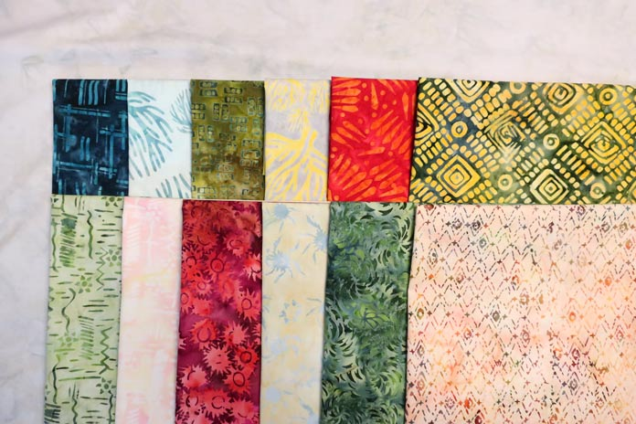 Fabrics from the Nostalgic Vibes and Primitive Lines collections