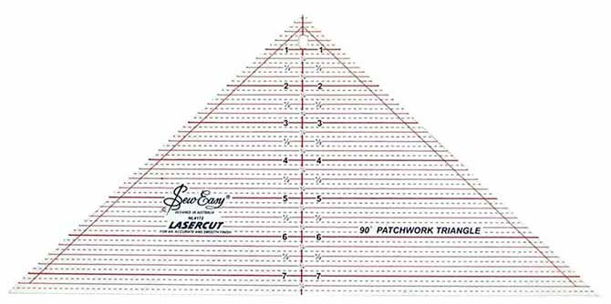 "The SEW EASY 90° Patchwork Triangle Ruler - 7½"" x 15½"""