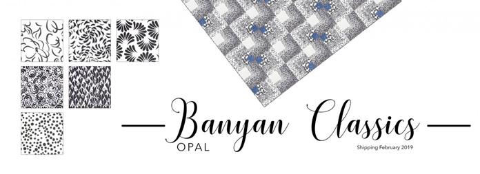 Banyan Classics Collection featuring the Opal Colorway, NEW February 2019!! Are you ready for the free pattern fun! Join Michael Smith for Rail Fence Quilt this week using 5 strips!