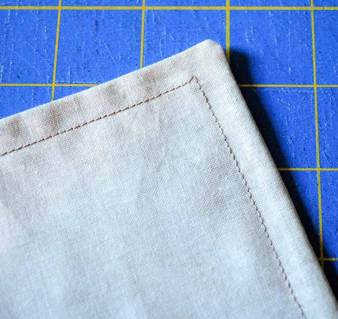 "The pillowcase is turned inside out and sewn along those same edges with a ⅜"" seam to encase the raw edges and create the French seam."