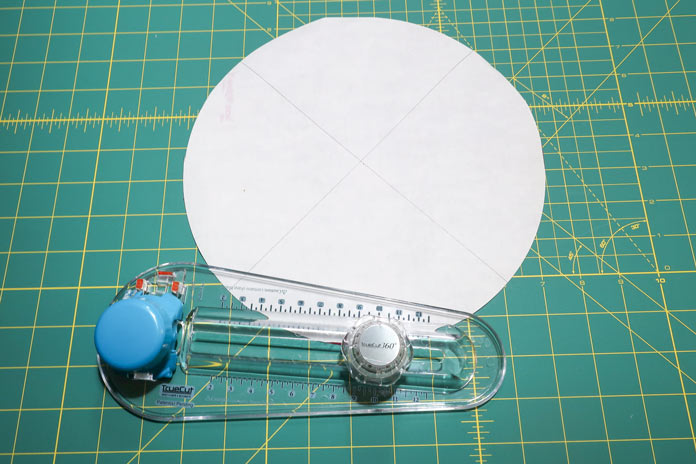 Doing a full circular motion will cut the required 360º circle.
