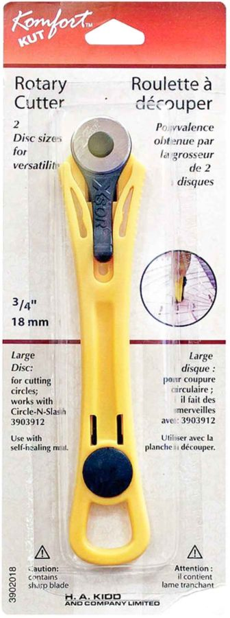 "Komfort KUT Rotary Cutter with an ¾"" blade."